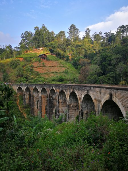 View of the famous Nine Arch Bridge