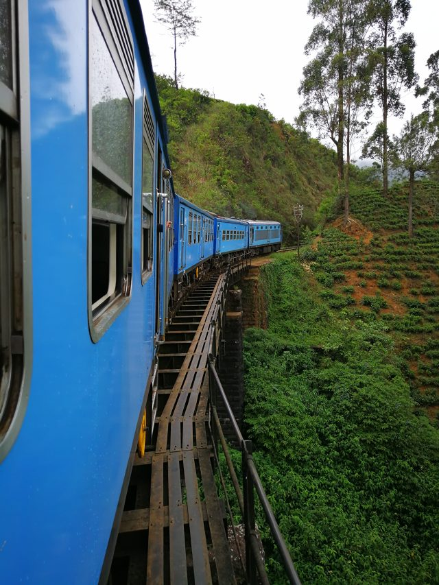 Train ride in Sri Lanka