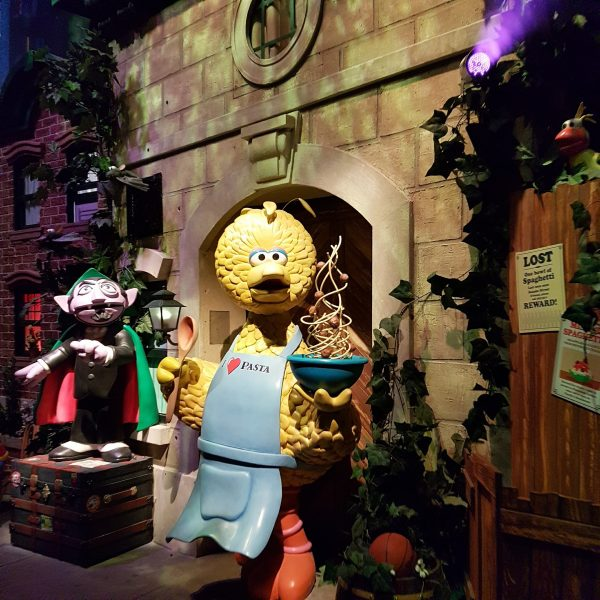 Sesame Street Spaghetti Space Chase ride at Universal Studios Singapore