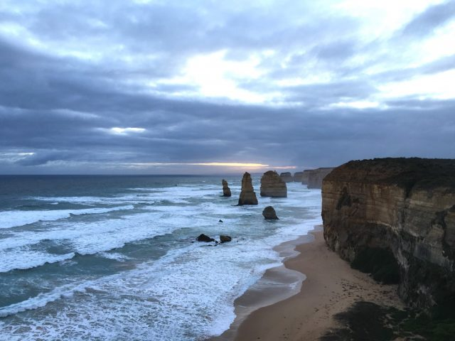 View of the Twelve Apostles along Great Ocean Road