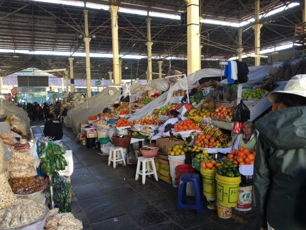 A market in Cusco City