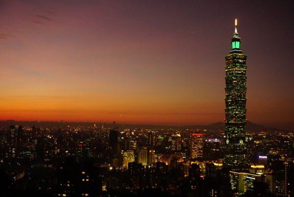 Night View of Taipei 101 from Elephant Mountain