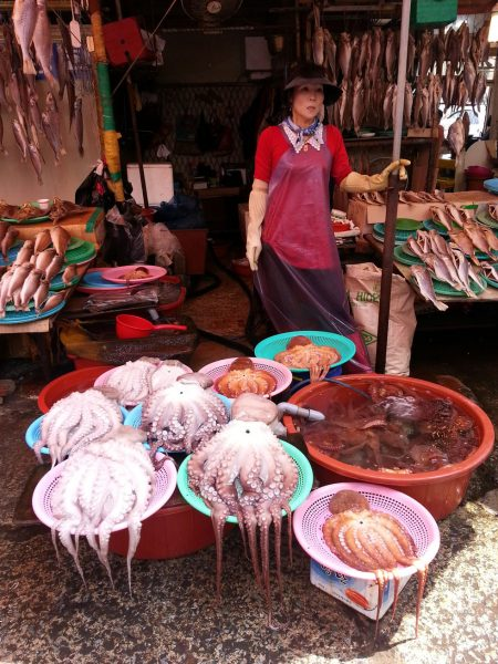 Street stalls outside Jagalchi Market