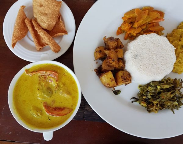 Rice and Curry at Cafe Punto near Galle Fort