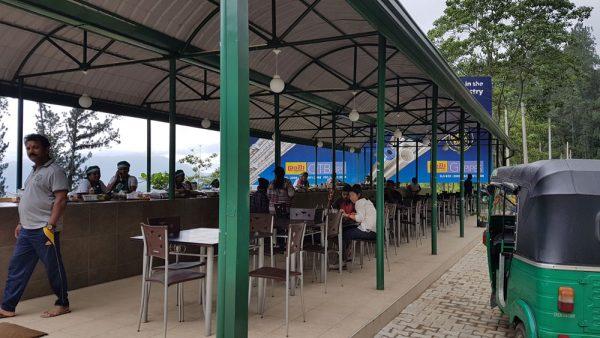 A traditional food court near Ramboda Falls