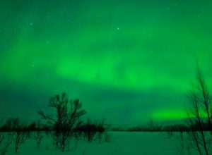 Sky filled with Northern Lights
