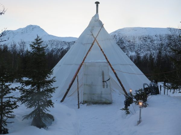 Front view of Sami Tent