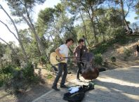 Buskers on Parc Guell