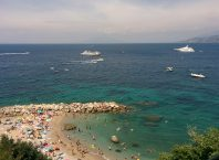 Relax on a beach in Capri