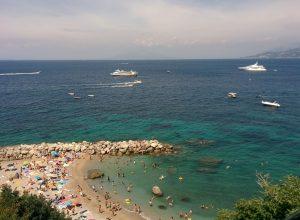 Relax on a beach in Capri