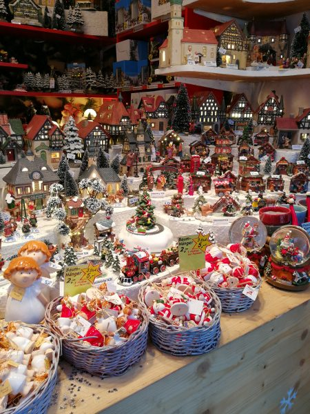 A booth at the Christmas Markets