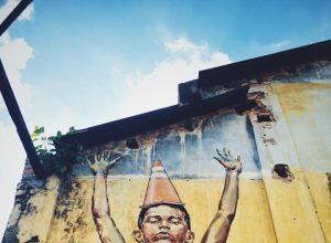 Mural along the streets of Penang