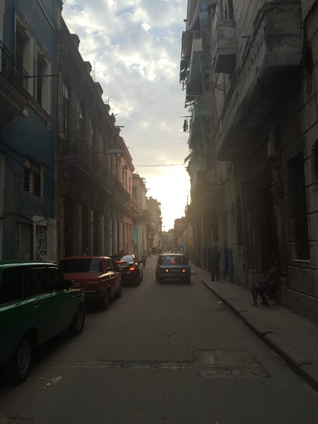 Street in Havana at dusk