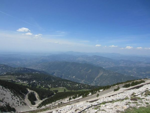 View from Mont Venteux, Provence, France