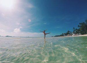 Enjoying the lovely beaches in Borocay, Philippines Photo Credits: Bucketlistpicks