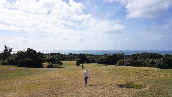 Grassland beside Eluanbi Lighthouse