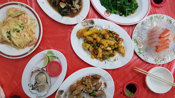 Table of fresh seafood goodness