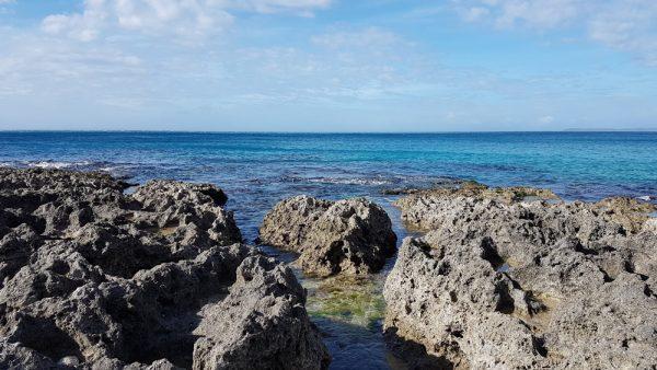 Coral reef rocks near Chuan Fan Rock
