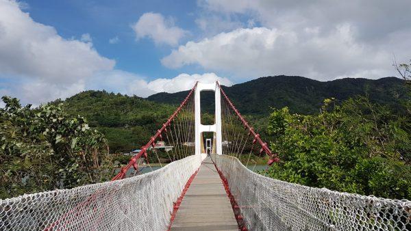 Entrance of the Gangkou Suspension Bridge
